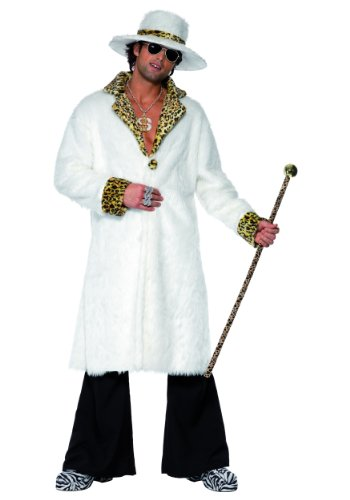 Faux Fur Pimp Suit Adult Costume