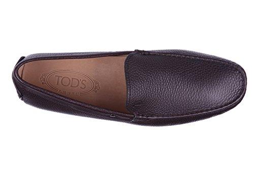 Tod's mocassins homme en cuir borchie gommini marron