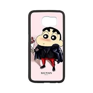Samsung Galaxy S6 phone case Black Crayon Shin chan RRTY7499196