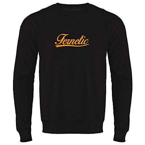 Pop Threads Fernetic Fernet Graphic Black L Mens Fleece Crew Sweatshirt