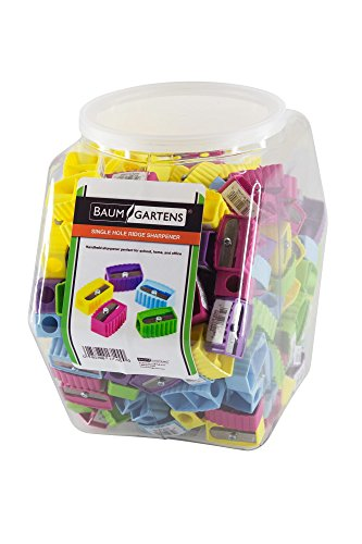 Baumgartens Ridge Pencil Sharpener Single Hole Assorted Colors (17109) by Baumgartens