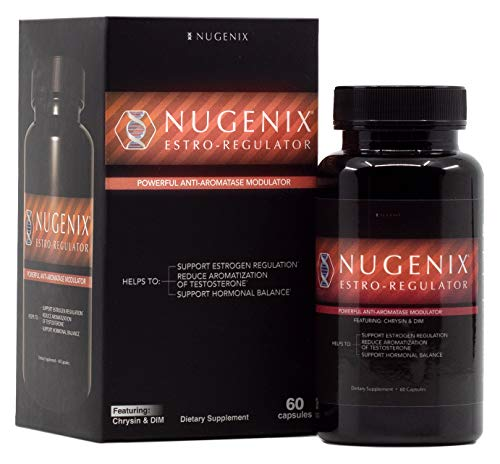 Nugenix Estro-Regulator - DIM Supplement, Power Estrogen Blocker, Boost Testosterone, Aromatase Inhibitor - 60 Capsules