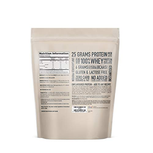 Image of Isopure Zero Carb Unflavored 25g Protein, 100% Whey Protein Isolate, Keto