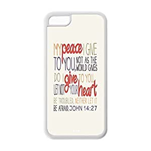 Laser Technology Bible Verse Custom Durable and Slim TPU Case Cover for iPhone 6 (4.5) -Black 020740