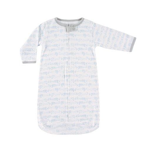Hudson Baby Unisex Baby Safe Sleep Wearable Long-Sleeve Sleeping Bag, Blue Airplanes 1-Pack, 0-3 Months (3M)