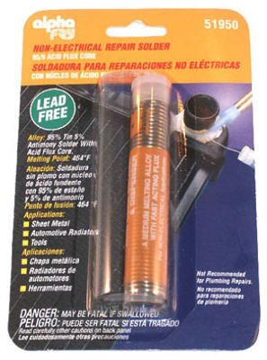 Alpha Fry AM51950 95/5 Solder No Lead Acid Core Solder & Dispenser
