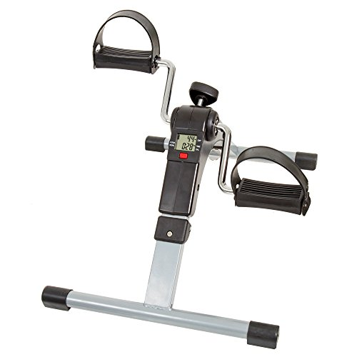 Wakeman Portable Folding Fitness Pedal Stationary Under Desk Indoor Exercise Bike for Arms, Legs, Physical Therapy with Calorie Counter by by Wakeman