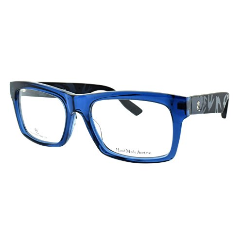 Alexander McQueen MCQ 0044/F SVR Crystal blue/black Rectangle - Mcqueen Alexander Frames