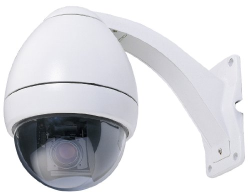 Cop Security 15-CD523W-S223 Indoor/Outdoor Day/Night PTZ Camera with ICR and 23X Samsung Zoom (White)