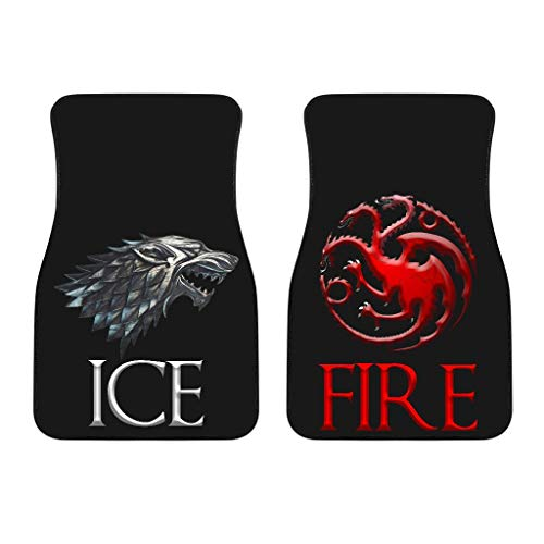 Tipsy Print Game of Thrones Fire and Ice Universal Car Front Floor Mats