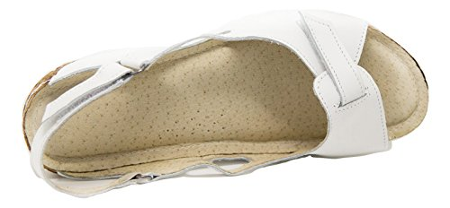 Sandales Ks® Pour D'été 403 Blanc Cuir Chaussures Femmes ErHqnr