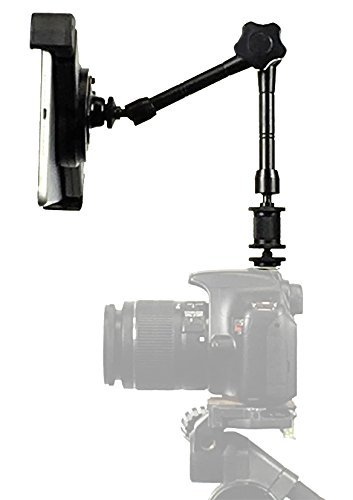 iShot G10 Pro iPad Universal Tablet SLR Camera Teleprompter Hot Shoe Flash Adapter & Tripod Mount Connection + Rock Solid 11 inch Articulating Extension Arm - Compatible with iPad & 7-11'' Tablets by iShot Pro
