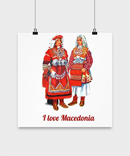 Macedonian Folk Costumes (Macedonia Folk Costume - Poster)