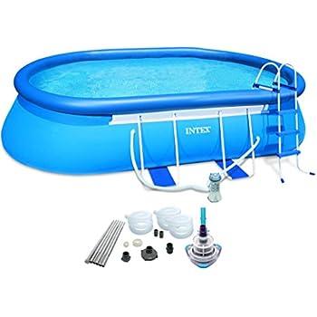 Intex 20 39 x 12 39 x 48 oval frame pool set w - Intex oval frame pool ...