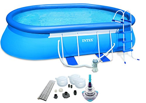 Intex 20' x 12' x 48'' Oval Frame Pool Set w/ 1500 GPH Filter Pump & V-TRAP Vac by INTEX