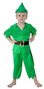 KIDS CHILDREN LIKE PETER PAN FANCYDRESS COSTUME OUTFIT (disfraz)