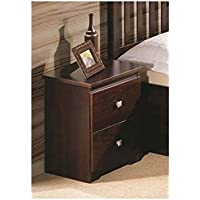 Donco Kids 704354 2-Drawer Nightstand 2 Dark Cappuccino Finish, Brown