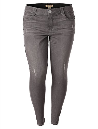 Democracy Womens  Ab Solution And Booty Lift Technology Legging Jeans Greystone Size 16