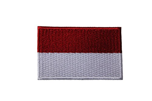 Indonesia Country Flag Small Iron on Patch Crest Badge .. 1.5 X 2.5 Inches ... - New Indonesia