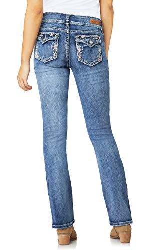 WallFlower Women's Juniors Luscious Curvy Bling Bootcut Jeans in Primetime, 7 ()