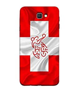 ColorKing Football Switzerland 08 Red shell case cover for Samsung On7 Prime