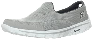 Skechers Performance Women's Go Walk 2 Slip-On Walking Shoe,Grey,6 M US