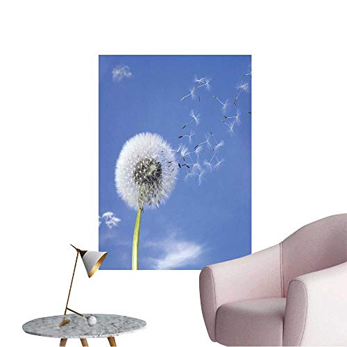 Wall Painting Blowball and Seeds in Blue Sky High-Definition Design,24