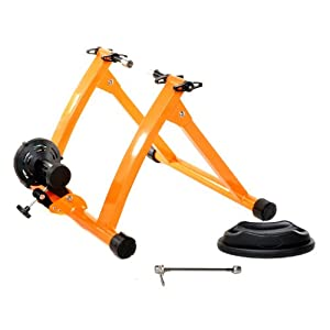 Indoor Bike Trainer Exercise Stand, Orange