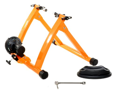 Indoor Bike Trainer Exercise Stand, Orange by Gavin