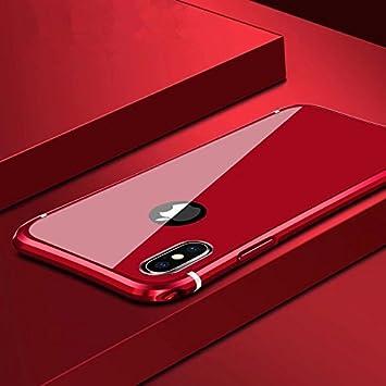 744daa3a9 MQman iPhoneX メタルバンパー 前面9H 強化ガラスフィルム付き アイフォンX カバー 高品質アルミ