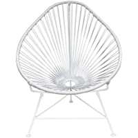 Innit Designs Baby Acapulco Chair, White Weave on White Frame
