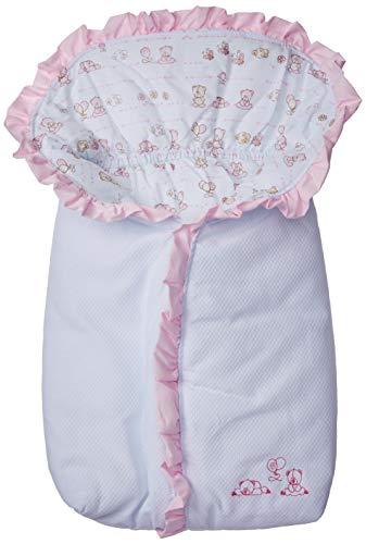 Papi Textil 2840, Porta Bebe C/Babado, Rosa, 68cm x 40cm