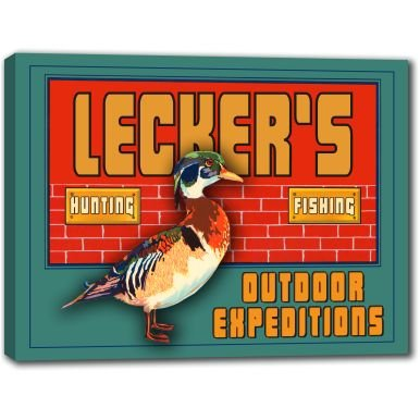 leckers-outdoor-expeditions-stretched-canvas-sign-24-x-30