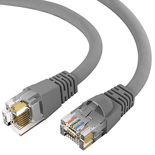 GOWOS Cat5e Ethernet Cable (200 Feet - Gray) UTP - Computer Network Cable with Snagless Connector - RJ45 10Gbps High Speed LAN Internet Patch Cord - Available in 28 Lengths and 10 Colors
