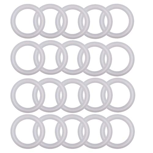 (Silicone Tri clamp Gasket for Tri Clover Fittings O-Ring- 1.5 inch, (Pack of 20))