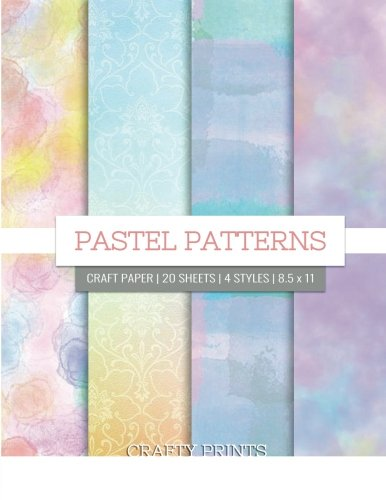 - Pastel Patterns Craft Paper: Pastel Decorative Paper Pad for Scrapbooking, Printmaking - 8.5 x 11
