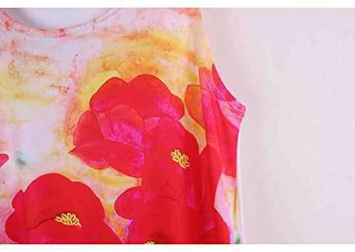 Acvip Gilet shirt Imprimé Fleur T Débardeur Sans Long Manche Femme rzqvUOr