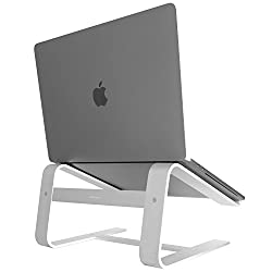 """Macally Aluminum Laptop Stand for Desk & for All Apple Macbook 12""""/Pro/Air, Chromebook, Samsung, Acer, HP, Dell, any Notebook between 10"""" to 17.3"""" (ASTAND)"""
