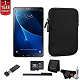 Samsung T585 Galaxy Tab A 10.1 Inch 4G - LTE (Black) 32GB - Bundle Kit with 32GB Micro SD Card + Cleaning Kit + More
