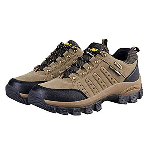 TnaIolral Men Women Outdoor Hiking Shoes Couple Breathable Non-Slip Hiking Shoes (US:11.5, Brown) (Us-511)
