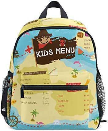 Kids Menu School Backpack Student Bags Kid Bookbag for Children Travel Daypack Girl Boy 3-8 Years Old Toddler Preschool