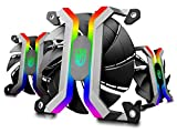 DEEPCOOL MF120S 3x120mm PWM Case Fans Radiator Fans, Motherboard Control and Wired Controller Supported, 5V 3-pin Addressable RGB, 5-Port RGB Hub Included
