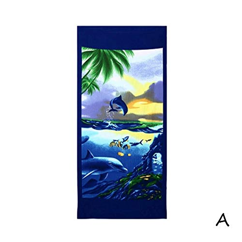 Hooded Paper Holder - Summer Print Square Beach Towel, 27.6