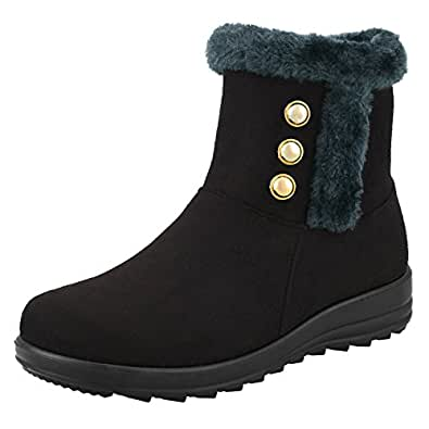 Amazon.com | Women's Winter Boot Zipper Closure Outdoor