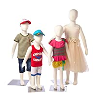 Abstract Standing Unisex Child Mannequin + Base (R-3468) (4 in Box!)
