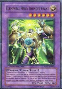 Yu-Gi-Oh! - Elemental Hero Thunder Giant (MF01-EN001) - Mattel Action Figure Series 1 - Promo Edition - Parallel Rare