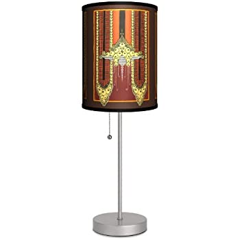 Travel Old World Map Sport Silver Lamp Table Lamps