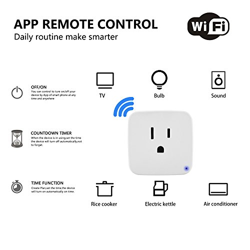 Mini Smart Plug, Compatible With Alexa & Google Home, DAILYCOMB Smart Outlet, Wi-Fi Enabled, App and Voice Control Anywhere and Anytime,No Hub Required, Easy Configuration (Classic 3 PACK)