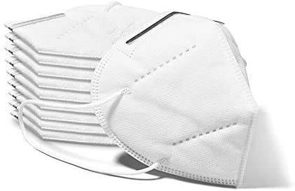 [10 Pack] Reusable Facial Protection Filtration>95%, Anti-fog, Dust-proof Adjustable Headgear Full Face Protection Masks with FDA (10pcs)