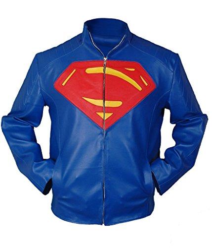 Tom Welling Superman Costume (F&H Men's Superman Jacket 2XL Blue)